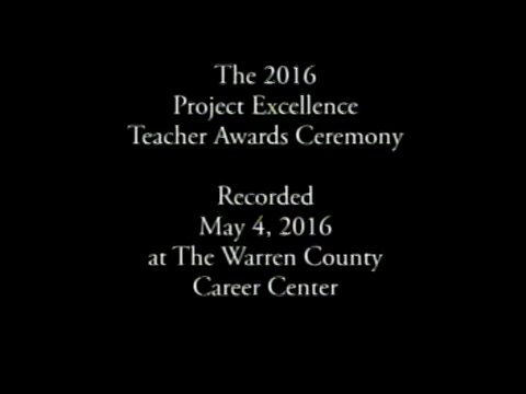 2016 Area Progress Council of Warren County Project Excellence Teacher Award Ceremony - May 4, 2016