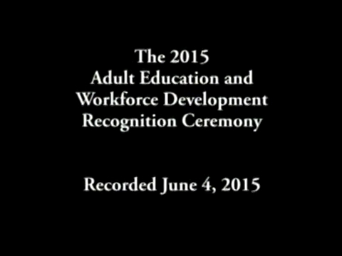 The WCCC Adult Education and Workforce Development Recognition Ceremony